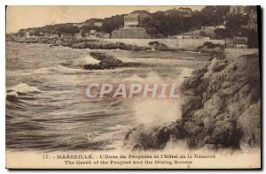 Old Postcard Marseille L'Anse of the Prophet and the Reserve Hotel