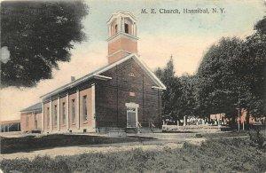 G46/ Hannibal New York Postcard 1908 The M.E. Church Building