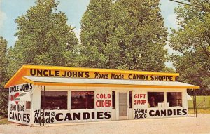 Mitchell Indiana outside Uncle John's Candy Shoppe vintage pc ZE686289