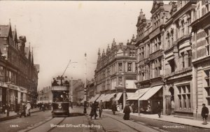 RP: READING , England , 1913 ; Broad Street , Tram