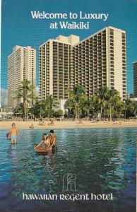 Hawaii Waikiki Beach Hawaiian Regent Hotel 1981
