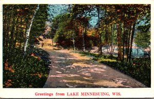 Wisconsin Greetings From Lake Minnesuing 1934