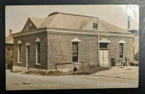 Vintage Water Works Otsego Michigan Real Photo Postcard RPPC