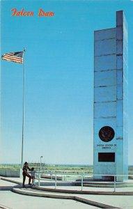 McAllen Texas 1968 Postcard Falcon Dam Monument to US  Mexico Cooperation