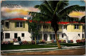 Fort Lauderdale, Florida Postcard THE BERMUDIAN Apartment Building - Kropp Linen