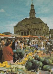 Maastricht Holland Fruit Market Stalls Postcard