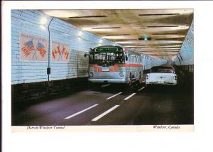 Detroit Windsor Tunnel Ontario, Bus and Car, Country Flags, Interior