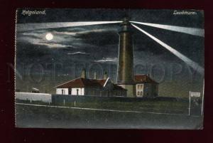 015192 LIGHTHOUSE in HELGOLAND at NIGHT Vintage PC