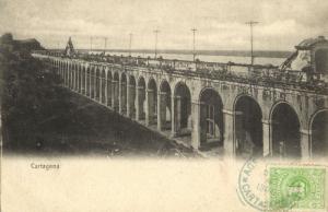 colombia, CARTAGENA, Las Bóvedas, The Vaults (1900) Postcard
