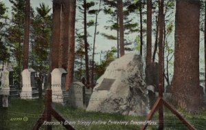 CONCORD , Massachusetts , 1900-10s ; Sleepy Hollow Cemetery , Emerson's Grave