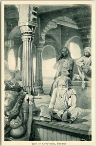 Vintage VARANASI India Postcard Well of Knowledge, BENARES Unused