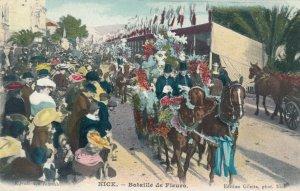 NICE , France, 1900-10s ; Bataille de Fleurs, Parade