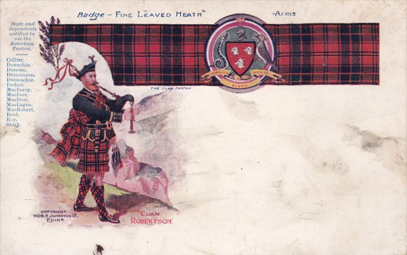 Clan Robertson , Scotland , Pre-1907