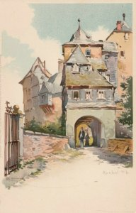 RUNKEL, Limburg-Weilburg, Germany, 1900-10s; Castle Entrance