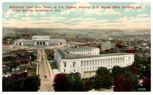 1910's Senate Office Building & Union Station Ariel View Washington DC PC2027