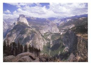 Yosemite National Park California, USA Postcard Giant Staircase Nevada Falls X32