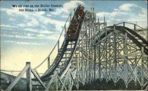 Old Orchard Beach ME Roller Coaster c1910 Unused Postcard