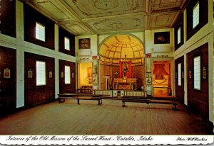 Idaho Cataldo Interior Of The Old Mission Of The Sacred Heart