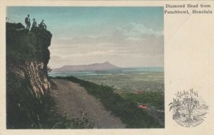 HONOLULU , Hawaii , 1901-07 ; Diamond Head from Punchbowl