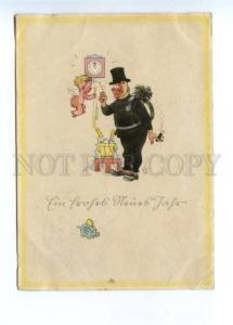 141919 Smoking Chimney sweep ANGEL by Emerich HUBER vintage PC