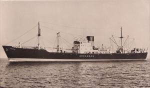 MS Arkansas Swedish America Line DFDS Ship RPC Postcard