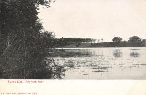 Portage Wisconsin~Pond Scum on Silver Lake~Rowboat~1905 Postcard
