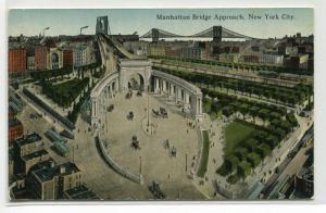 Manhattan Bridge Approach Arch Colonnade New York City NYC NY 1910s postcard