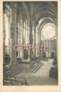 Postcard Old Cite Carcassonne Basilica of St. Nazaire The Transept