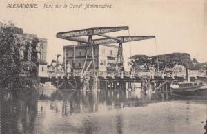 ALEXANDRIE, Egypt, 1900-1910´s; Pont sur le canal Mahmoudieh