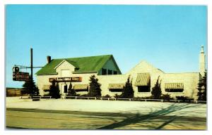 1950s/60s The Supper Club and Aztec Lounge, Palatine, IL Postcard *5F19