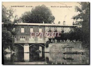 Postcard Old water mill Dampmart Mill Quincangrogne