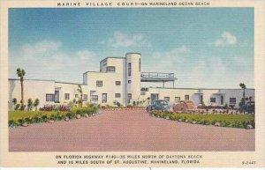 Florida Marineland Marine Village Court On Marineland Ocean Beach