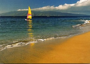 Hawaii Maui Sailboat At Kaanapali Beach 2008