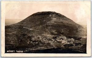 Mount Tabor ISRAEL Real Photo RPPC Postcard Aerial Panorama View Unused