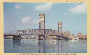 Florida Jacksonville Main Street Bridge Spanning The St Johns River Dexter Press