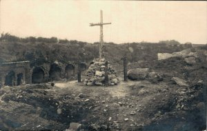 Military Monument eleve World War 1 RPPC 06.30