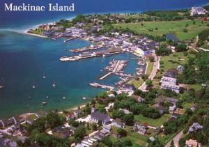 MI - Mackinac Island. Aerial View