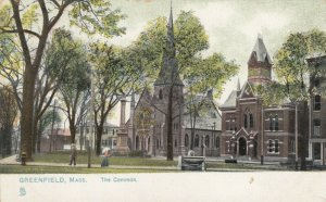 GREENFIELD, Massachusetts, 1901-07; The Common, TUCK # 5700