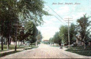 Maine Pittsfield Scene On Main Street