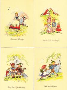 Liesel Lauterbom - Four Cards - Children