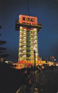 The brightly lit Shell Tower, Toronto,  Ontario,  Canada,  40-60s