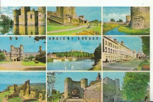 Sussex Postcard - Views of Ancient Sussex - Ref 16294A