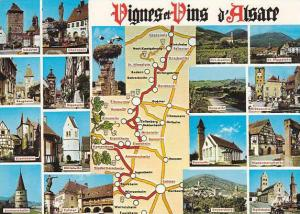 Map Of La Route Des Vins France Multi View