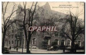 Postcard Old Dusseldore Service telegraphic & # 39Armee Army