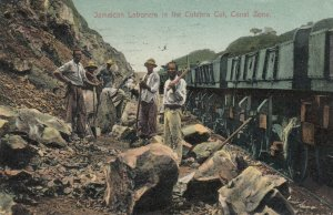 Jamaican Workers in the Culebra Cut , Panama Canal Zone , 1909