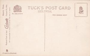 TUCK # 4616 ; Woman & flowers , leaning left , 00-10s