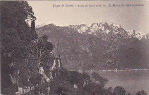 Italy Lago di Como Ramo di Lecco vista dal Giardino della Villa Serbelloni