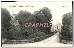 Old Postcard Chateaux Calvados Balleroy L & # 39Entree the castle and & # 39e...