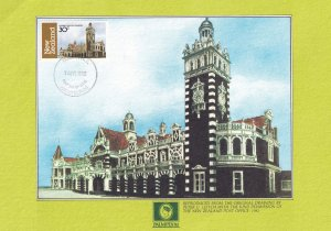 Railway Station Dunedin New Zealand First Day Cover