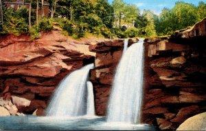 Ohio Elyria Cascade Park East Falls Of Black River 1943